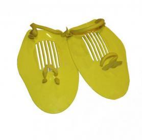 Фото 1 к товару Лопатки для плавания (ласты для рук) Dorfin (ZLT) желтые