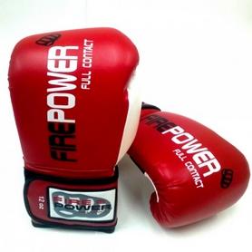 Фото 2 к товару  Перчатки боксерские Firepower FPBG2 красные