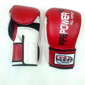 Фото 3 к товару  Перчатки боксерские Firepower FPBG2 красные