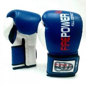 Фото 2 к товару  Перчатки боксерские Firepower FPBGA2 синие
