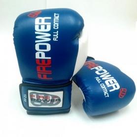 Фото 3 к товару  Перчатки боксерские Firepower FPBGA2 синие