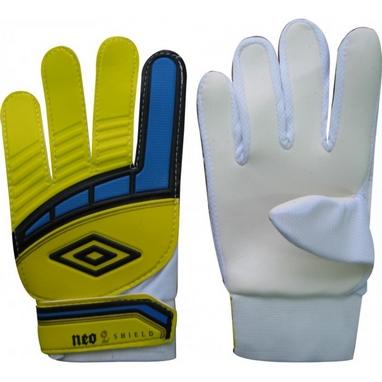 Перчатки вратарские Umbro FB-838 желто-белые