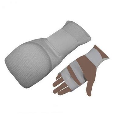 Накладки (перчатки) для карате ZLT MFT-1041B белые