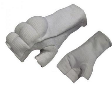 Накладки (перчатки) для карате ZLT BO-1085-W белые