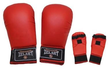 Накладки (перчатки) для карате ZLT ZB-4007-B красные