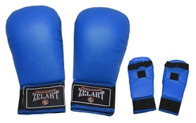 Фото 1 к товару Накладки (перчатки) для карате ZLT ZB-4007-B синие