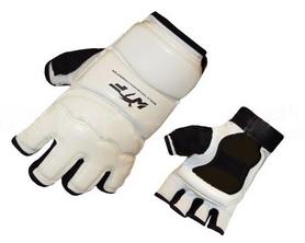 Накладки (перчатки) для тхэквондо ZLT BO-2016-W WTF белые - XS