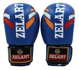 Фото 1 к товару Перчатки боксерские ZLT ZB-4276-B синие