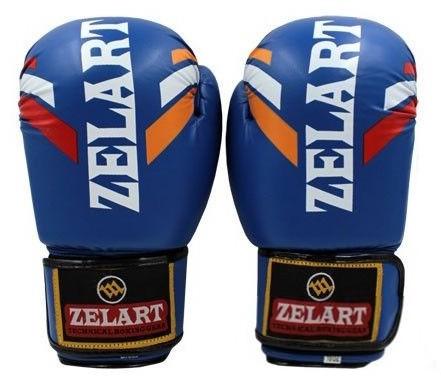Перчатки боксерские ZLT ZB-4276-B синие