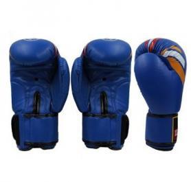 Фото 2 к товару Перчатки боксерские ZLT ZB-4276-B синие