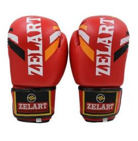 Распродажа*! Перчатки боксерские ZLT ZB-4276-R красные - 10 Oz