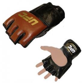 Фото 1 к товару Перчатки для смешанных единоборств MMA UFC MA-3304-BR коричневые