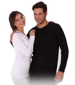 Фото 1 к товару Термофутболка с длинным рукавом унисекс Thermoform 1-027 черная