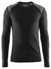 Термофутболка мужская с длинным рукавом Craft St Moritz LS M black/steel grey - фото 1