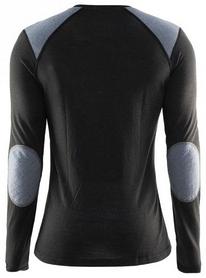 Фото 2 к товару Термофутболка мужская с длинным рукавом Craft St Moritz LS M black/steel grey