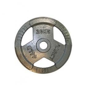 Фото 1 к товару Диск олимпийский 20 кг Marcy с хватами - 51 мм