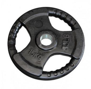 Диск обрезиненный олимпийский 15 кг Marcy с хватами - 51 мм