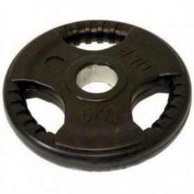 Диск обрезиненный олимпийский 5 кг Marcy с хватами - 51 мм