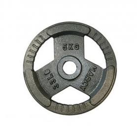 Фото 1 к товару Диск олимпийский 5 кг Marcy с хватами - 51 мм