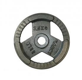 Фото 1 к товару Диск олимпийский 2,5 кг Marcy с хватами - 51 мм