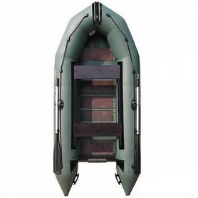 Лодка надувная моторная килевая Aquastar K-430 зеленая
