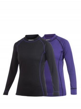 Комплект термофутболок женский Craft Active Multi 2-pack Colourblock Tops vision/black
