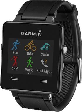 Часы спортивные Garmin с датчиком сердечного ритма vivoactive black bundle