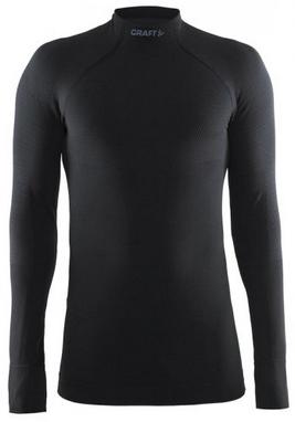 Термофутболка мужская с длинным рукавом Craft Warm Half Polo black