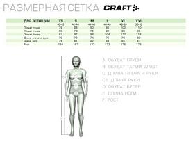 Фото 2 к товару Термофутболка женская с длинным рукавом Craft Warm Wool Crewneck black