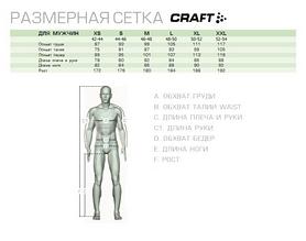 Фото 3 к товару Термофутболка мужская с длинным рукавом Craft Warm Half Polo black