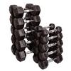 Гантельный ряд гексагональный Body-Solid 10 пар 2,5-25 кг - фото 1