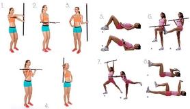 Фото 2 к товару Палка гимнастическая Body Bar Jordan 3 кг