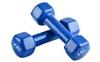 Гантели виниловые Pro Supra 2 шт по 4 кг синие - фото 1