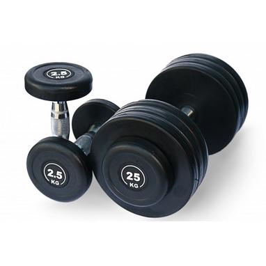 Гантельный ряд обрезиненный Alex 20 пар 2,5-50 кг