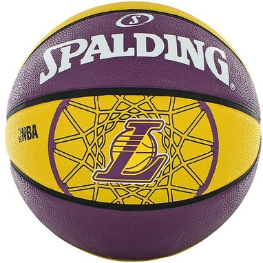 Мяч баскетбольный резиновый Spalding Lakers
