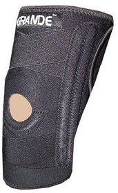 Суппорт колена (ортез) со спиральными ребрами жесткости Grande GS-1810