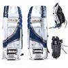 Щитки хоккейные вратарские мужские Opus 3721 3000 white/blue - фото 1