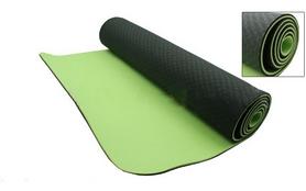 Коврик для фитнеса Yoga mat TPE+TC 4мм FI-3973 зелено-салатовый