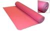 Коврик для фитнеса Yoga mat TPE+TC 4мм FI-3973 светло-розовый - фото 1