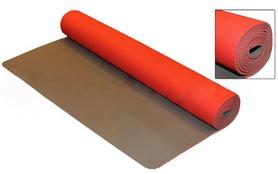Коврик для фитнеса Yoga mat TPE+TC 4мм FI-3973 красно-серый