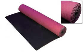 Коврик для фитнеса Yoga mat TPE+TC 4мм FI-3973 розово-черный