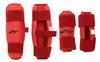Защита для тхэквондо (предплечье+голень) ZLT BO-4382-R красная - фото 1