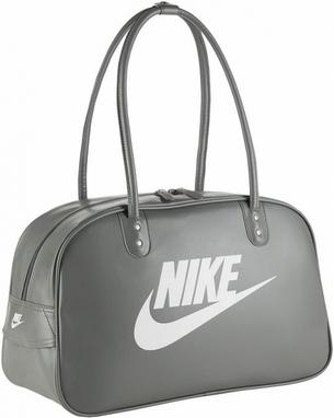 Сумка Nike Heritage Si Shoulder Club серая с белым