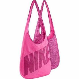 Фото 1 к товару Сумка женская Nike Graphic Reversible Tote розовая