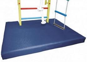 Фото 4 к товару Мат гимнастический с вырезом под шведскую стенку ZLT 120х100х8 см синий