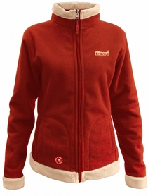 Куртка женская Tramp Бия красная с бежевым
