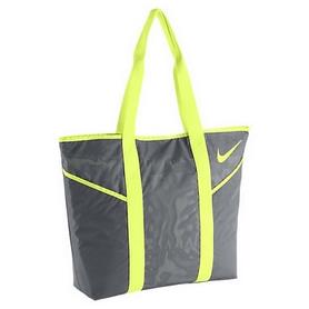 Фото 1 к товару Сумка женская Nike Azeda Tote серая с салатовым