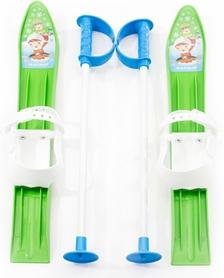 Лыжи с палками детские Marmat 60 см зеленый