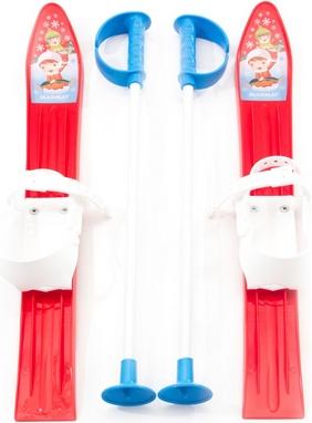 Лыжи с палками детские Marmat 60 см красный