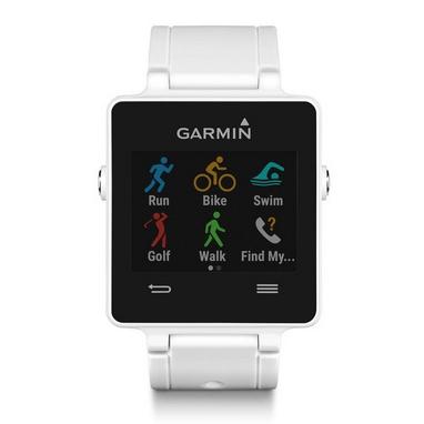 Часы спортивные Garmin с датчиком сердечного ритма vivoactive white bundle